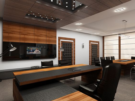 Offices public and design on pinterest for Small executive office design