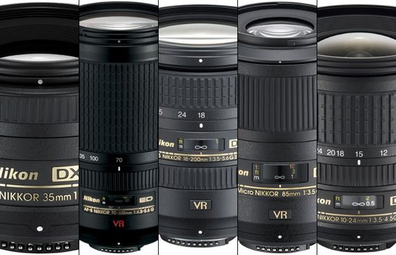 The first three lenses I would buy for my new Nikon DSLR would be the 35mm f/1.8 ($200), the 70-300mm ($600) and either a macro, wideangle or walkaround len
