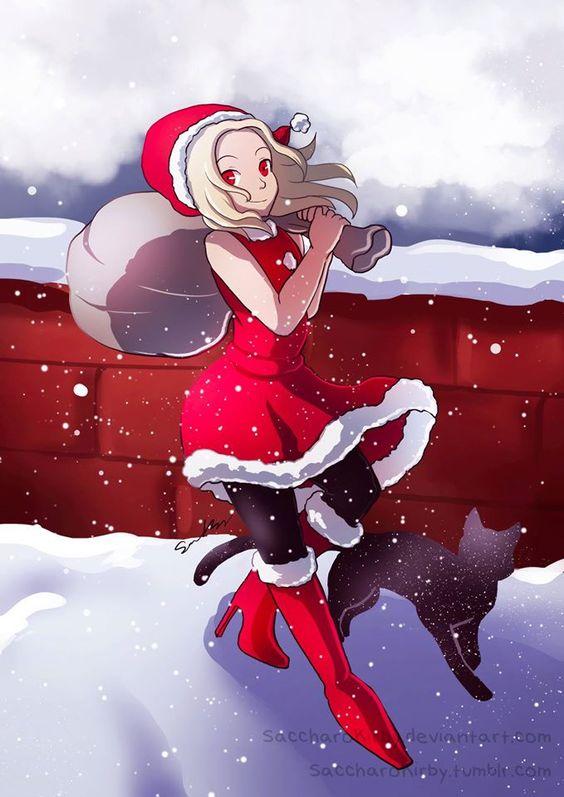 サンタさんのコスプレをしているキトゥン