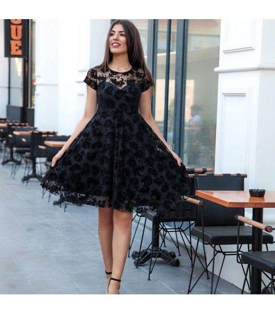 Midi Boy Siyah Abiye The Dress Elbise Moda Stilleri