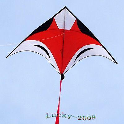 7ft/230cm Fox animal delta Kite single line outdoor fun sports toys for kids