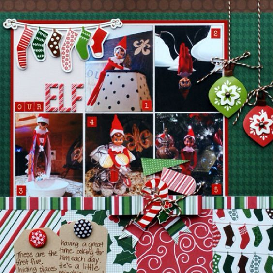 Elf on the Shelf scrapbook