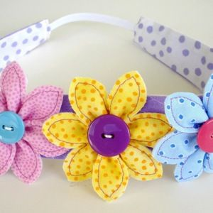 Download Flowers, Leaf & Narrow Headband Sewing Pattern | New Hair Accessories Sewing Patterns for Download | YouCanMakeThis.com