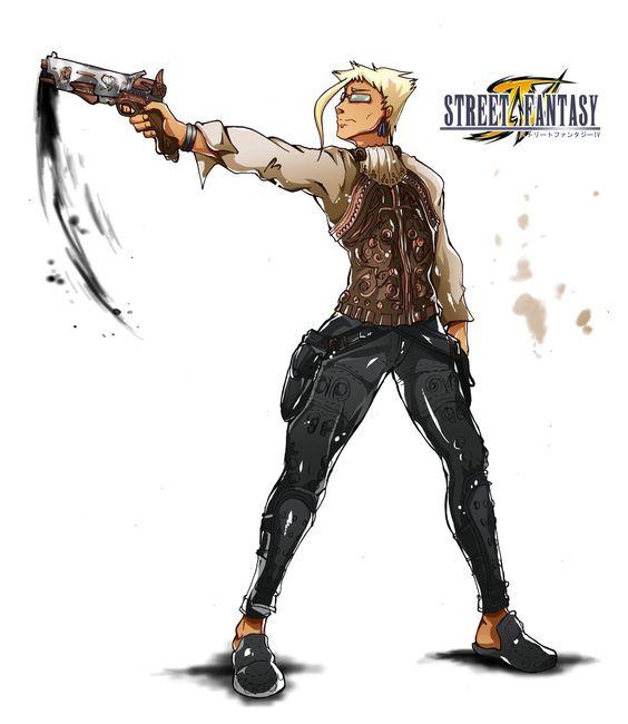 Final Fantasy X Street Fighter artwork - Charlie (Balthier)