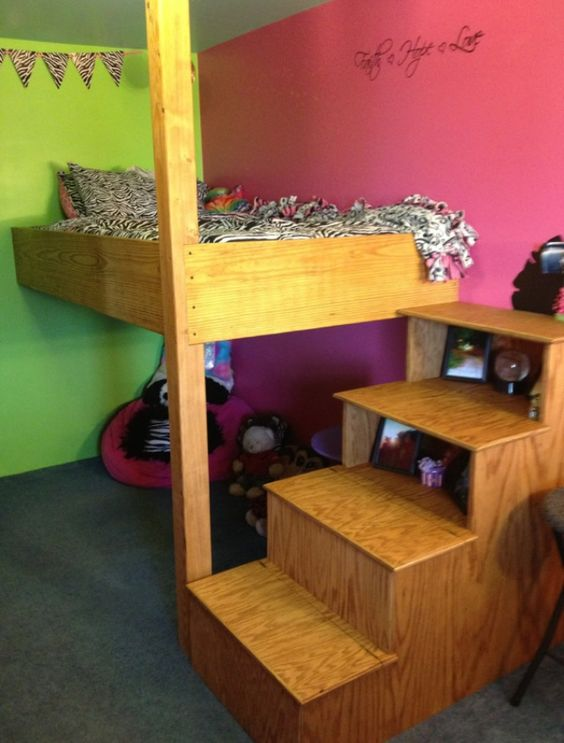 Loft Beds Stairs And Wall Colours On Pinterest
