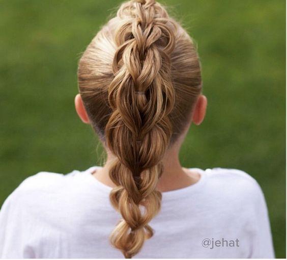 Three strand pull-through braid
