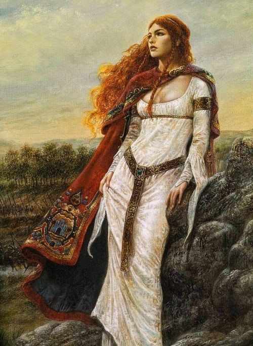 Scátthach, the Scottish Warrior Goddess: According to P.Monaghan Scátthach was an Irish Heroine who Lived on Island Made For Her;  Isle of Skye in Scotland. She Taught Warriors but in order to get to her they had to pass the Bridge of the Cliff, an extremely challenging task (that even brought Cúchulann to brink as he performed his salmon leap to gain entry). ~Repinned Via Scáthach