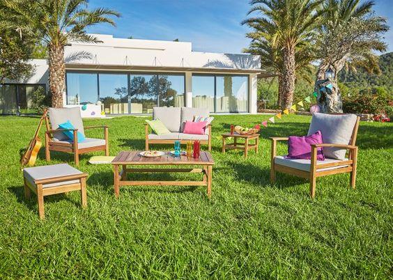 Salon jardin eucalyptus maison design - Table de jardin ovale extensible fort de france ...