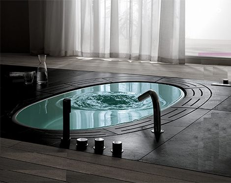 I love a claw-foot tub, but I think this will have to do!