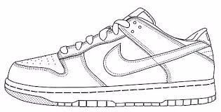 Nike White Air Force 1 Coloring Page Google Search Sneakers Drawing Air Force One Shoes Shoe Template