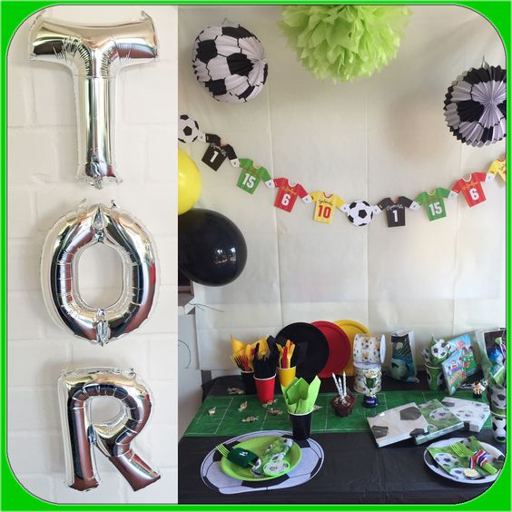 Girlande partygeschirr geschenkt ten f r fussball party for Mottoparty deko
