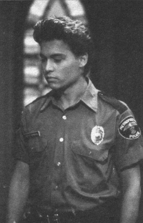 80slove:  Johnn Depp as Officer Tom Hanson