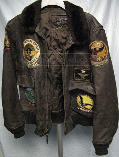 Brown leather flight jacket patches – Modern fashion jacket photo blog