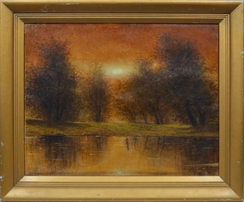 ANTIQUE AMERICAN IMPRESSIONIST SUNSET LANDSCAPE TONALIST MARSH RARE OIL PAINTING https://t.co/4Tph1JfvBp https://t.co/bQjeNJMIFC
