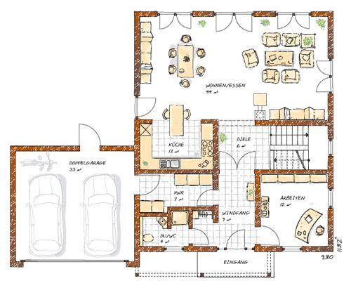 Ingolf Christianus, Fachwerk neu bauen, Bauplanung - kuche wohnzimmer offen modern