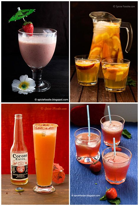 Ice Cold Summer Drink Recipes via SpicieFoodie.com