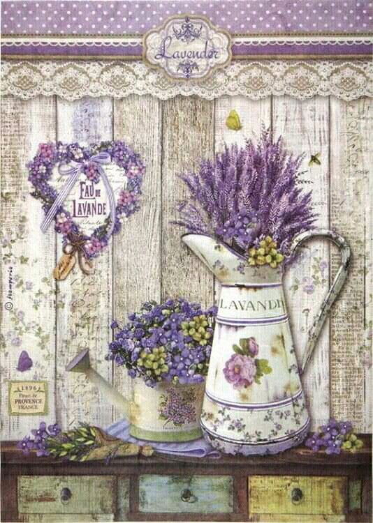 Collage Art Supplies- PROVENCE decoupage napkins- herbs Vintage style- Beautiful napkins- Scrap booking paper 4 single paper napkins