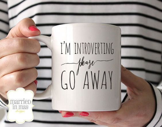 Coffee Mug, I'm Introverting Please Go Away Mug, Ceramic Mug, Quote Mug, Married in May, Unique Coffee Mug Gift Coffee, Gift Idea for Her