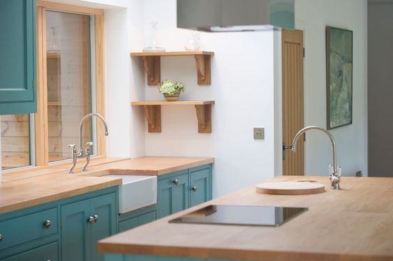 Cornish Blue Kitchen - Bespoke Design by GRK