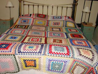 A beautiful crochet bedspread
