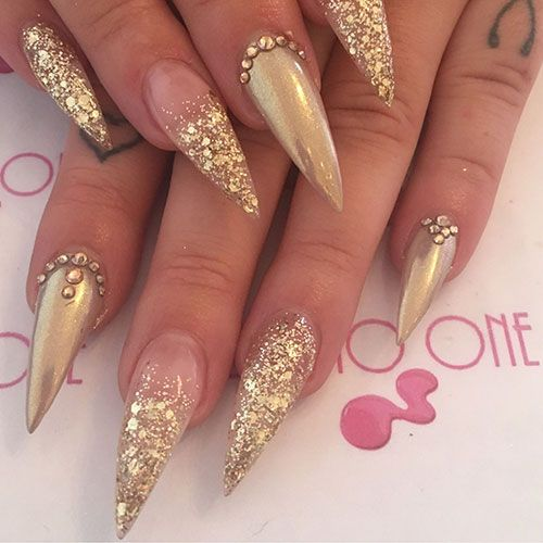 55 Best Stiletto Nails Short Long Stiletto Nail Designs To Get In 2020 In 2020 Stiletto Nails Designs Prom Nails Wedding Nail Art Design