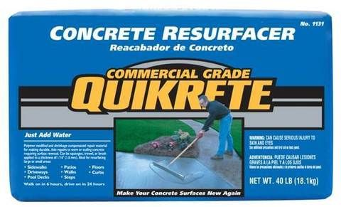 Quikrete Cement Gray For Use With Concrete And Resurfacer 40 Lb Lowes Com Concrete Resurfacing Repair Concrete Driveway Concrete Driveways