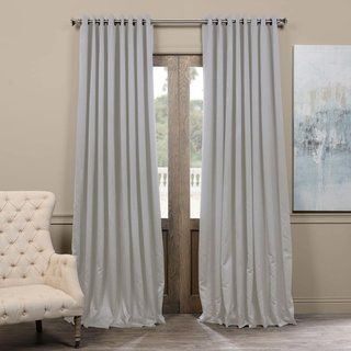 Exclusive Fabrics Extra Wide Thermal Blackout Grommet Top 120 Inch Curtain Panel 120 X 100 Neutral Grey Gray