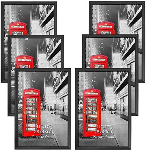 Buy Amazing Roo Poster Frame 11x17 Inch Black Picture Frames 6 Pack Without Mat 11 17 Wall Mounting Photo Frame Online In 2020 11x14 Picture Frame Picture Frame Wall 16x20 Picture Frame