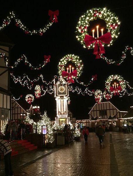 Banbury Cross, England at Christmas.