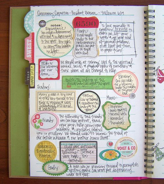 Another journal page that I <3!  Stealing this idea too!