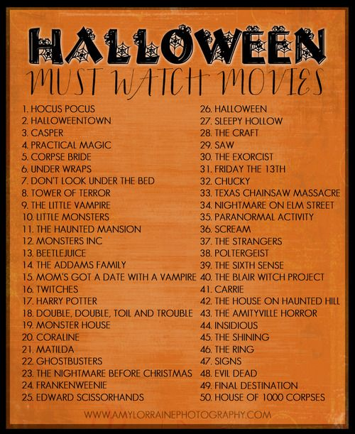 Must watch Halloween movies.