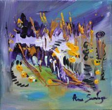 tableau moderne de l'artiste peintre ame sauvage http://www.amesauvage.com/artiste-peintre-contemporain-2/tous-les-tableaux/une-nouvelle-variete-de-fleurs.html