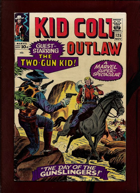 Marvel Comics Kid Colt Outlaw #125, Pencils Dick Ayers, Inks Mike Eposito, Colours Stan Goldberg.