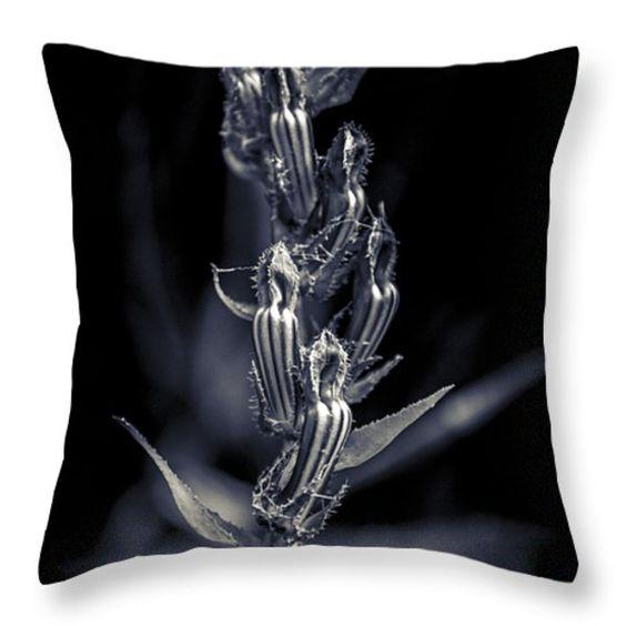 Arkansas Striped Wildflower  Throw Pillow by April Smith. Parker Bend Eureka Springs #Arkansas.