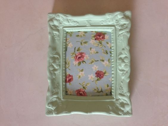 Quadrinho tecido floral verde