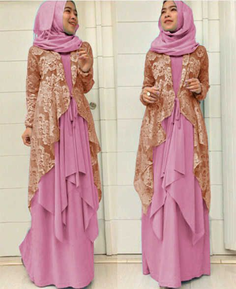 Gamis Online Brokat Modern Pink Models And Modern