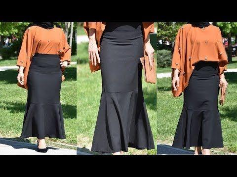 طريقة تفصيل تنورة دروات كلوش Youtube Fashion Skirts Maxi Skirt