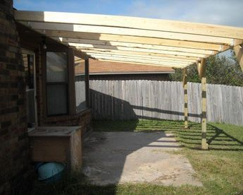 How To Build A Patio Cover With A Corrugated Metal Roof Building A Patio Diy Patio Cover Diy Patio