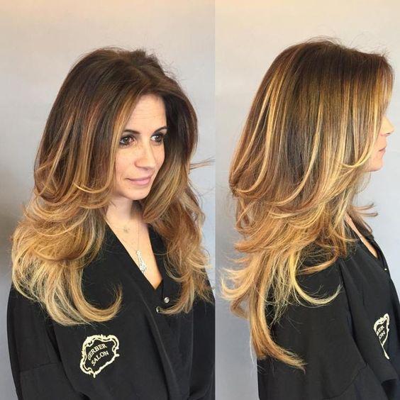 Cortes de cabelo degradê feminino 2020 longo
