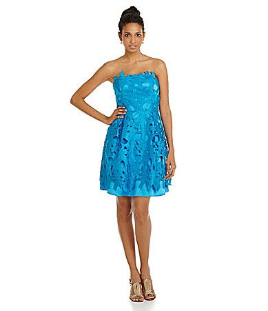 Adrianna Papell Scalloped Lace ALine Dress #Dillards | fashion fun ...