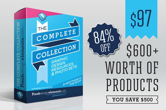 [SAVE $500] Complete Collection by Fresh Design Elements on @creativemarket