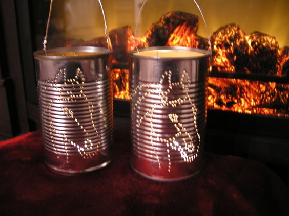 My Stud...Recycled Tin Can Votive by Doingourpart on Etsy