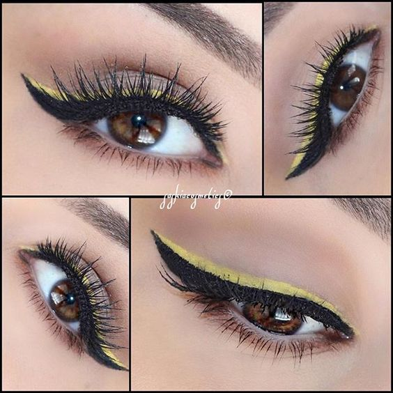 Inspired Look by @desimakeup  Double Liner  @houseoflashes Iconic Lashes via @angela4design by saskiacosmetics