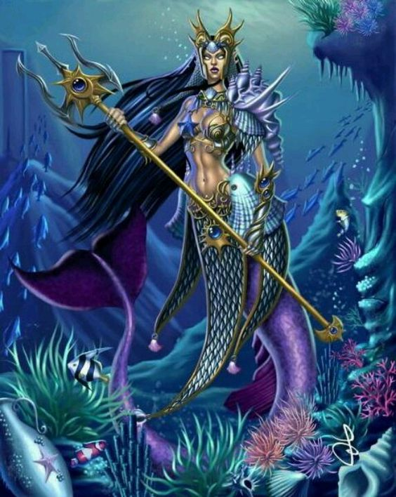 warrior mermaid by helljuancho on DeviantArt