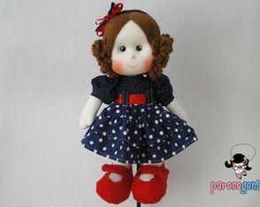 Boneca De Pano Cecilia Pintadinha 40 Cm