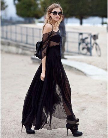 Street Style: Paris Fashion Week  ...And a side look at Elena Perminova.