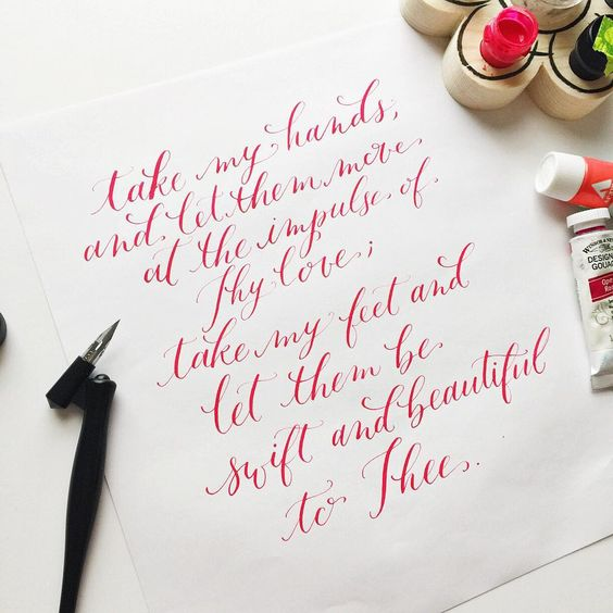 rachelanne.co Atlanta, GA modern calligraphy and lettering pointed oblique pen #moderncalligraphy