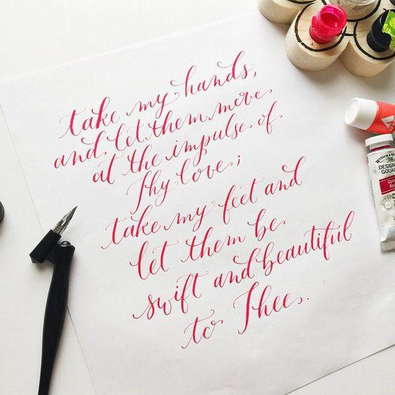 rachelanne.co Atlanta, GA modern calligraphy and lettering pointed oblique pen #moderncalligraphy