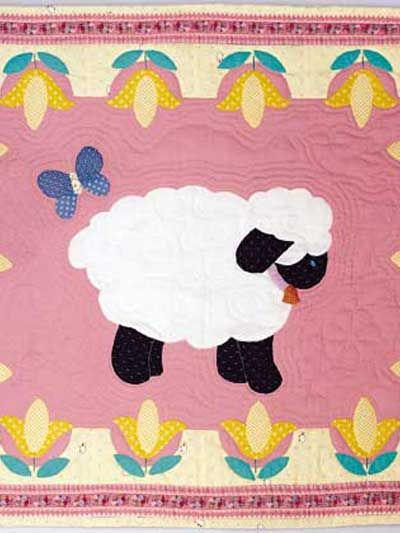 Free Sweet Lambs For Baby Quilt Pattern Download This