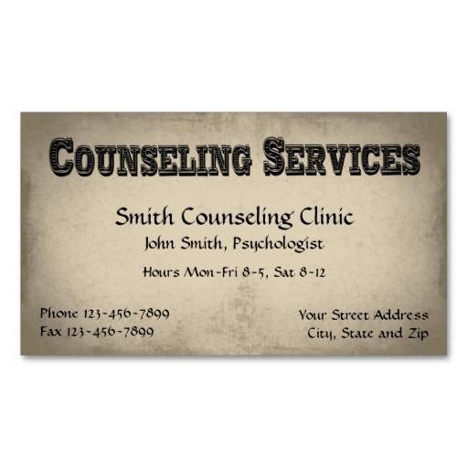 Counselor psychologist mental health business card mental health counselor psychologist mental health business card mental health counselor business cards pinterest colourmoves